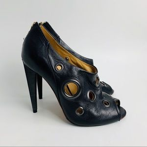 L.A.M.B. Raina sexy heeled leather ankle booties